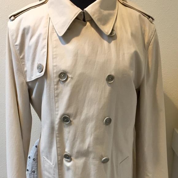 Club Monaco Jackets & Blazers - CLUB MONACO Off White Classic Trench Coat Size L